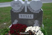 double heart headstone design