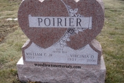 double heart gravestone - Wildwood Cemetery