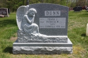 Weeping Angel headstone in Wildwood Cemetery, wilmington, MA