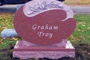 custom headstone - Pine Grove Cemetery