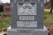 Hand carved holy family - Rock of Ages memorials