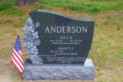 custom shaped headstone in New Hampshire Cemetery