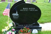 custom etched headstone - Winthrop Cemetery