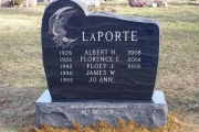 double lot gravestone with etched Angel