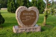 heart shape headstone in Wood End Cemetery, Reading, MA