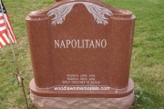 custom designed headstone erected in Wyoming Cemetery, Melrose, MA