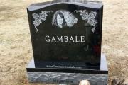 Double etched portrait - Swampscott Cemetery