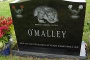 custom Etched double portrait - Pine Haven Cemetery, Burlington, MA