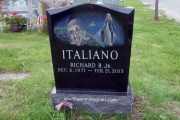 our custom etched headstones