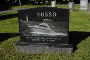 Custom etched boat scene - Pine Grove Cemetery, Lynn, MA