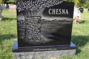 custom headstone in Riverside Cemetery, Saugus, MA