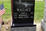 single lot headstone - black granite custom lighthouse design