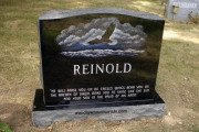 Bald eagle etched headstone