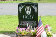 color etched design - St. Patrick's Cemetery, Stoneham, MA