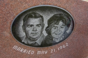 etched insert on headstone - Wildwood Cemetery, Wilmington, MA