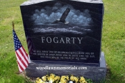 hand etched eagle headstone - Riverside Cemetery, Saugus, MA