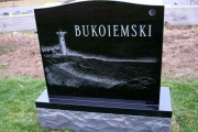 hand etched lighthouse gravestone