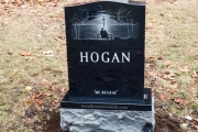 hand done etched headstone - Lynn, MA