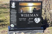 personalized headstone for four
