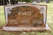multi-color granite headstone