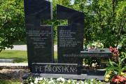 Open air cross family estate memorial