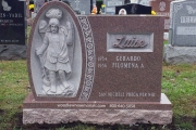 Sculpted St. Peter family lot headstone