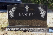 etched floral design - Lynn MA monuments
