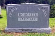 6 foot Barre Vermont Granite monument for 6 interments - Oak Grove Cemetery, Medford, MA