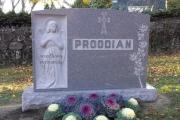 full length sculpted angel headstone for estate lot