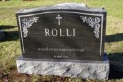 Rolli gravestone - Wildwood Cemetery, Wilmington, MA