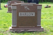 4 grave lot monument - Oak Grove Cemetery