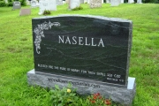 Gem Mist granite with roses - Lakeside Cemetery, Wakefield, MA