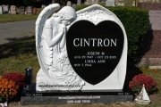White Marble Carved Angel Headstones
