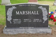 Family headstone in Lakeside Cemetery, Wakefield
