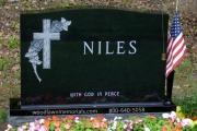Log Cross with roses - St. Joseph's Cemetery, Lynn MA