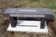 memorial dedication bench - Saugus, MA