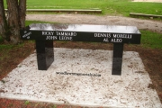 granite memorial bench - Cedar Glen Golf Course, Saugus, MA