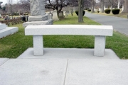 Vermont gray granite bench
