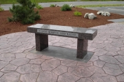 Larry Massone memorial bench