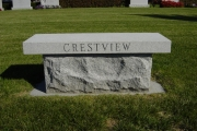 granite bench - Woodlawn Cemetery