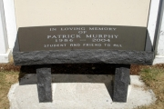 dedication bench - Landmark school Beverly, MA