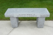 memorial bench - North Reading, MA