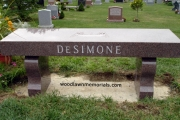 monument bench - Annunciation Cemetery, Danvers, MA