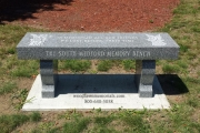 Memory bench at Tufts Park, South Medford, MA