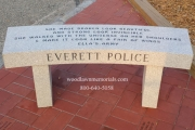 Everett Police memorial bench at Passos Avante Playground