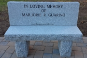 granite dedication bench - Melrose, MA