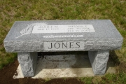 monument bench - Riverside Cemetery, North Reading, MA