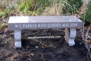 Parker Middle School granite bench - Reading, MA