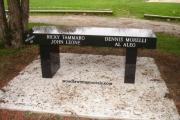 granite memorial bench - Cedar Glen Golf Course, Saugus, MA