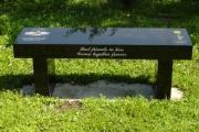 granite bench in Riverside Cemetery, Saugus, MA